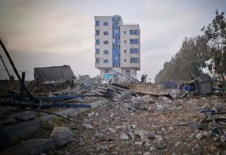 ההרס ברצועה לאחר תקיפת חיל האוויר הישראלי