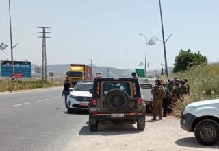 זירת ניסיון הפיגוע בשומרון (צילום: TPS)