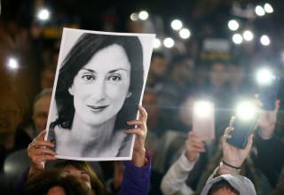 הפגנה בעקבות רצח העיתונאית במלטה
