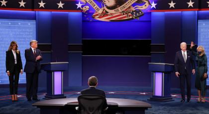 המועמדים לאחר העימות(צילום: המועמדים לאחר העימות)