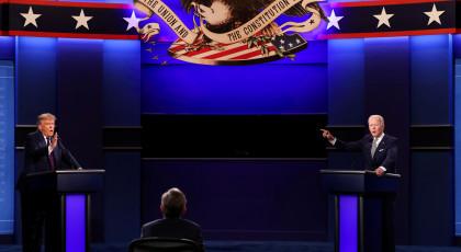 עימות ביידן-טראמפ(צילום: עימות ביידן-טראמפ)