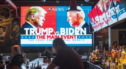 העימות הראשון של טראמפ וביידן (צילום: העימות הראשון של טראמפ וביידן )