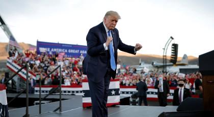 הנשיא טראמפ בעצרת בחירות, נבאדה(צילום: הנשיא טראמפ בעצרת בחירות, נבאדה)