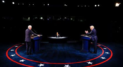 דונלד טראמפ וג'ו ביידן בעימות השני בנאשוויל(צילום: דונלד טראמפ וג'ו ביידן בעימות השני בנאשוויל)