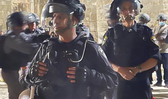 כוחות משטרה בכוננות בהר הבית