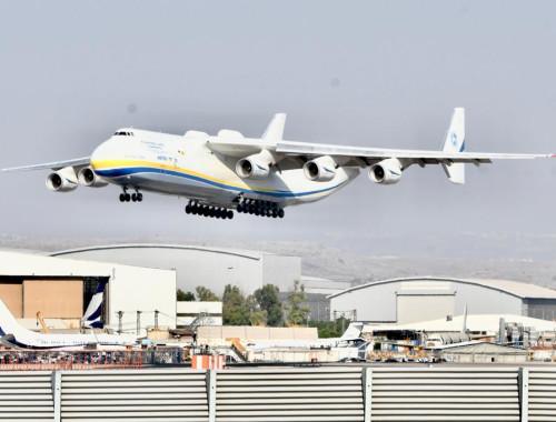 האנטונוב AN-225 נוחת בישראל