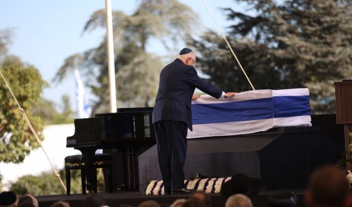 ריבלין נפרד מפרס בטקס הלוויה