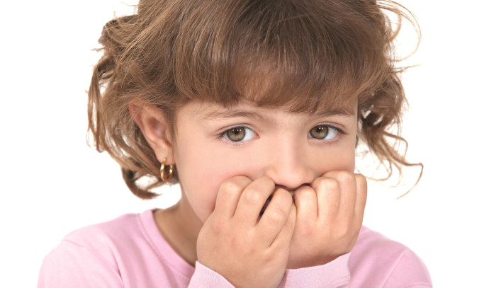 ילדה מפוחדת