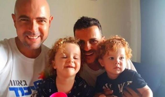 אמיר אוחנה ומשפחתו