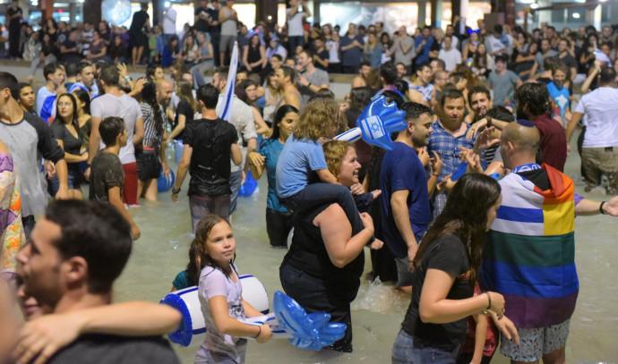חגיגות בכיכר רבין על זכיית ישראל באירוויזיון
