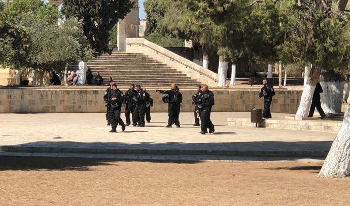 כוחות משטרה נכנסים להר הבית