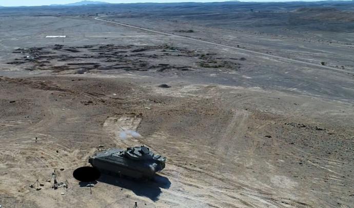 """טיל גיל נורה מצריחון בלתי מאויש של נגמ""""ש האיתן העתידי"""
