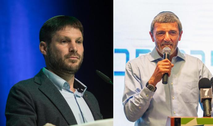 הרב רפי פרץ (ימין) ובצלאל סמוטריץ'