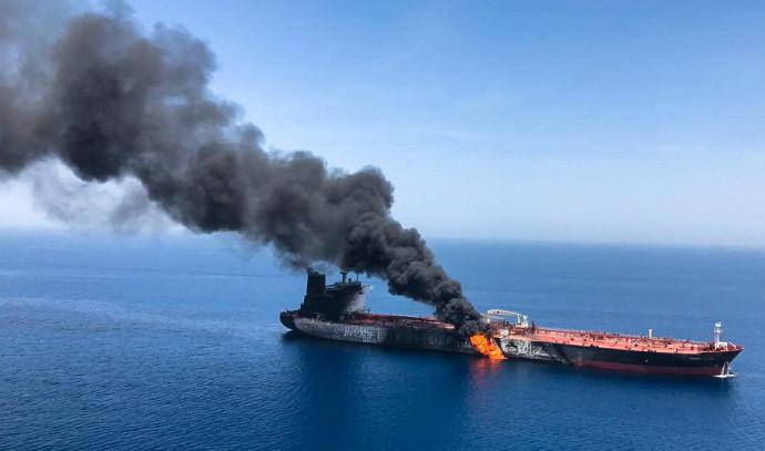מכלית שהותקפה במפרץ עומאן