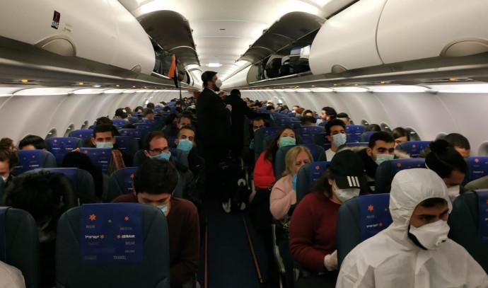 חילוץ הישראלים מרומא בשל התפשטות נגיף הקורונה