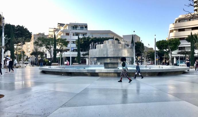 כיכר דיזנגוף לאחר כניסת ההגבלות לתוקף