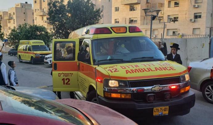 """אמבולנס מד""""א ביום ניידת טיפול נמרץ נט""""ן ירושלים"""