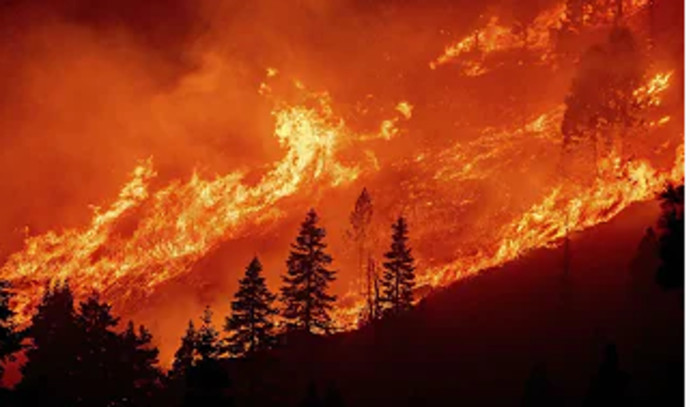 It consumed many acres: a huge fire threatens Lake Tahoe, California