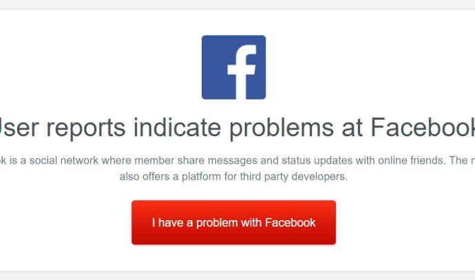 About four days after the big glitch: reports of disruptions on Facebook