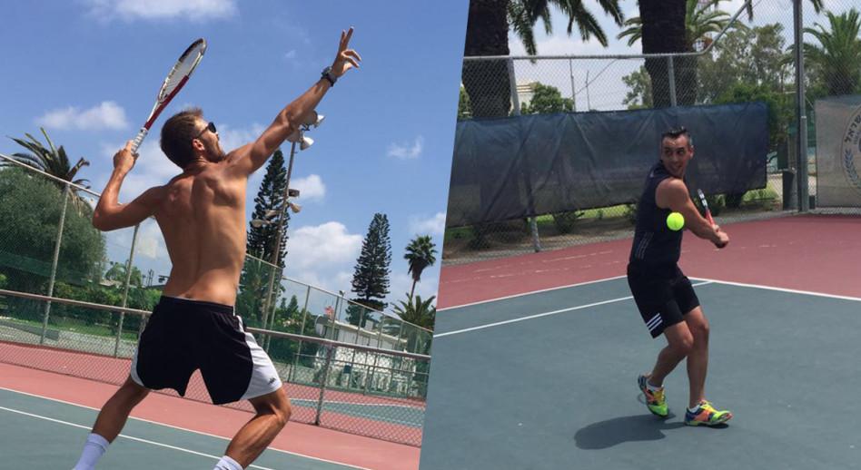 אילן אוספליק ורותם סמדג'ה משחקים טניס