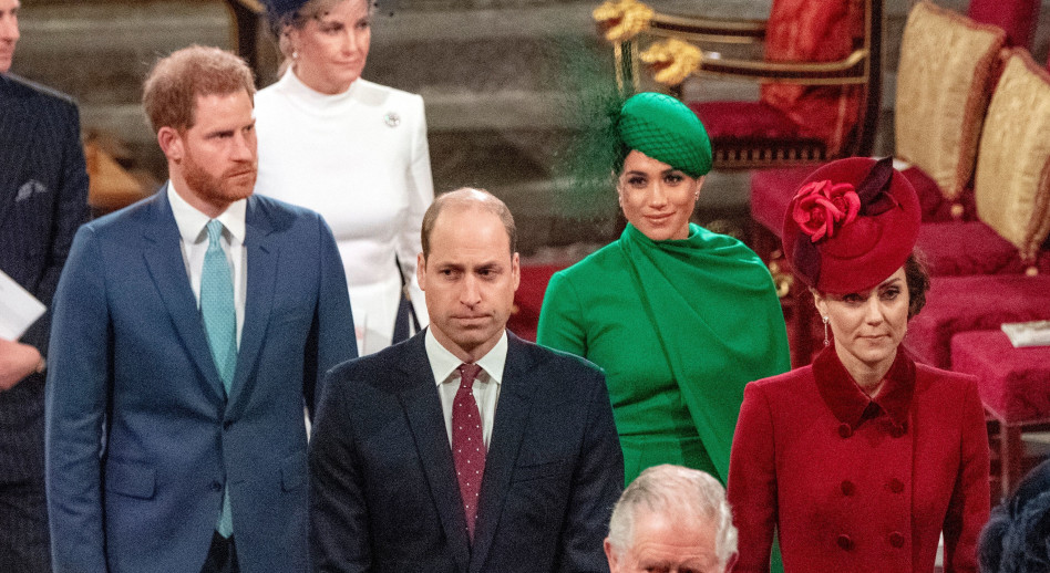 מייגן מרקל, הנסיך הארי, קייט מידלטון, הנסיך וויליאם