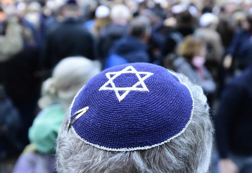 מחאה בברלין נגד אנטישמיות