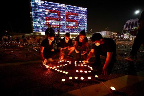 הדלקת נרות לזכר יצחק רבין