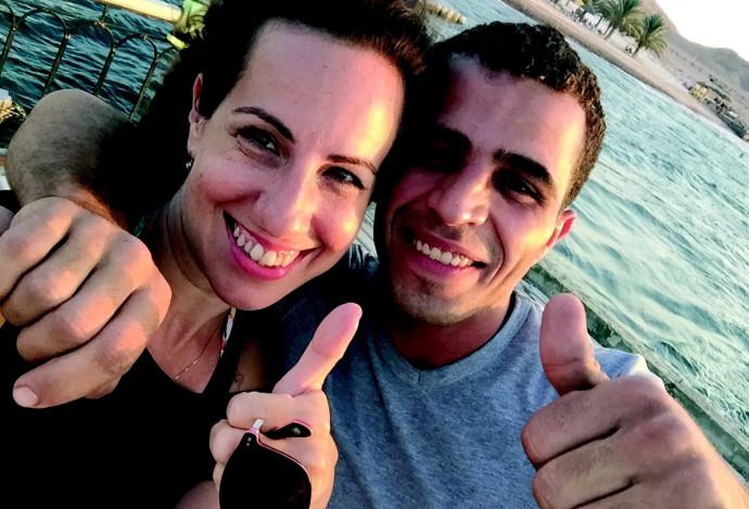 טליה לוין עם ידיד בירדן