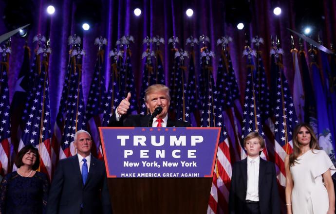 דונלד טראמפ, נאום הניצחון