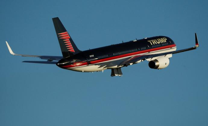 המטוס של דונלד טראמפ