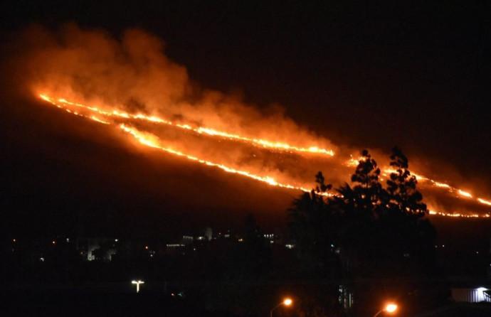 שריפה באזור כרמיאל