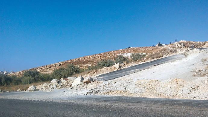 הכביש הלא חוקי בגוש עציון