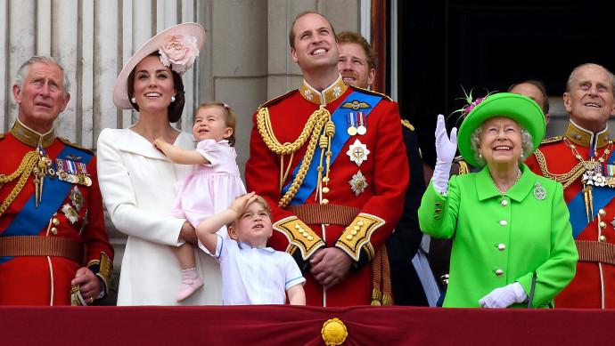 המלכה אליזבת, הנסיך ויליאם, קייט מידלטון והנסיך צ'רלס