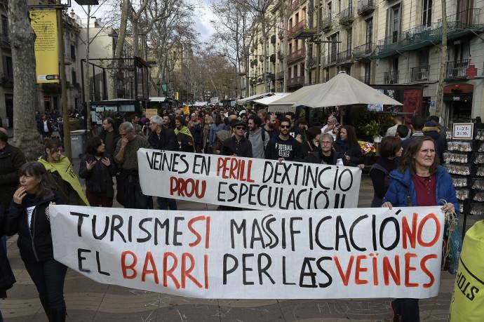 הפגנות נגד תיירים בברצלונה