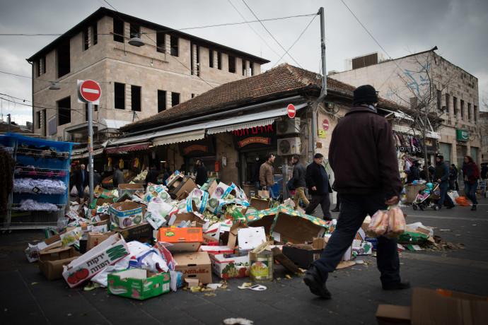 שביתה בירושלים, ערימות זבל בשוק מחנה יהודה