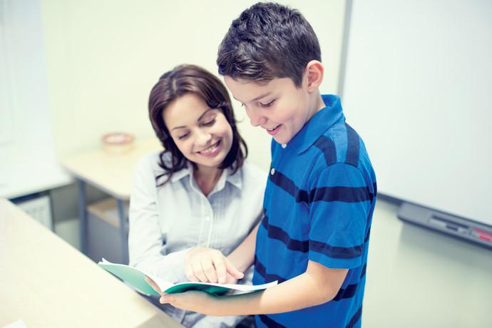 ילד בכיתה, צילום אילוסטרציה