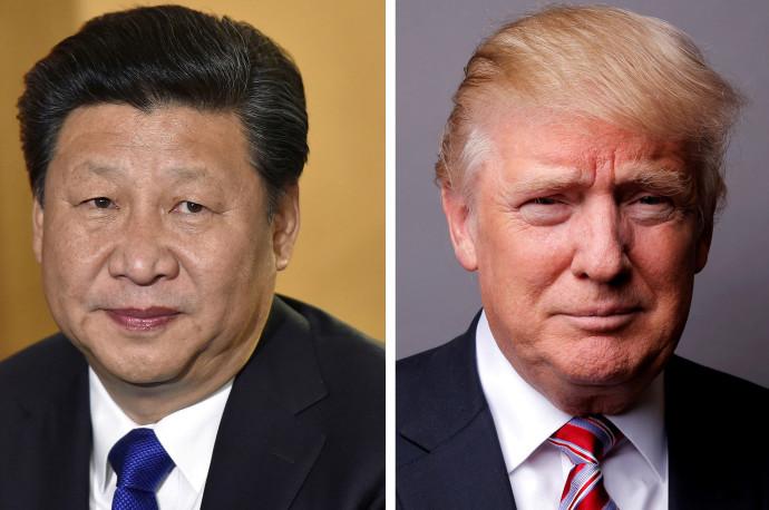 דונלד טראמפ ונשיא סין שי ג'ינפינג
