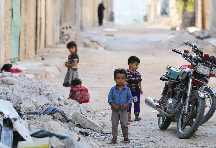 פליטים סורים בעיר חלב