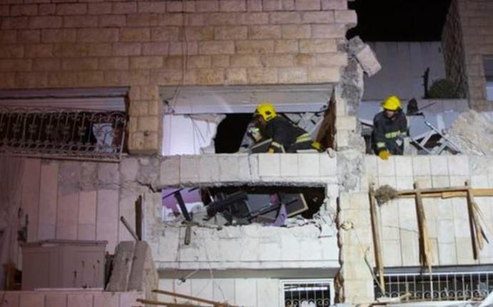 הבניין שנפגע בפיצוץ הגז בשכונת יגילה