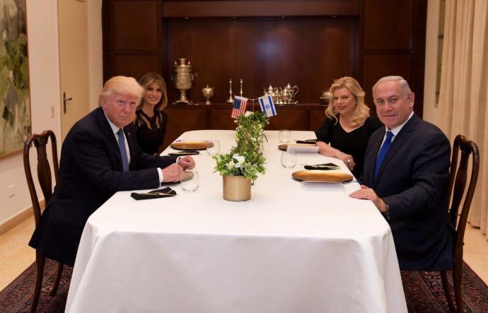 """בנימין נתניהו ורעייתו מארחים את נשיא ארה""""ב ורעייתו"""