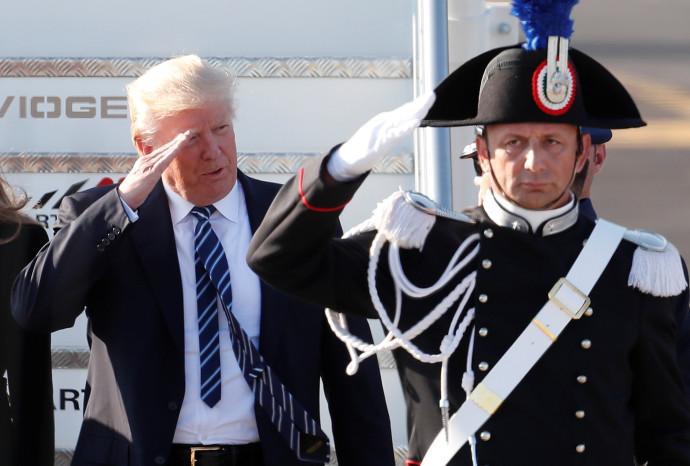טראמפ נוחת ברומא