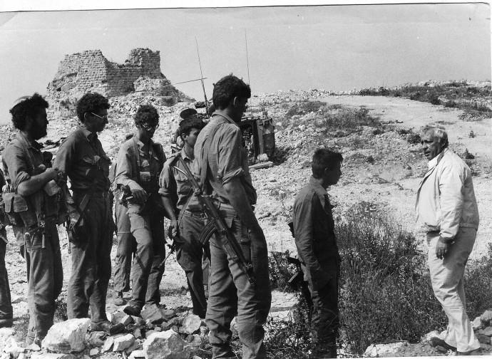 אריק שרון בבופור, מלחמת לבנון הראשונה