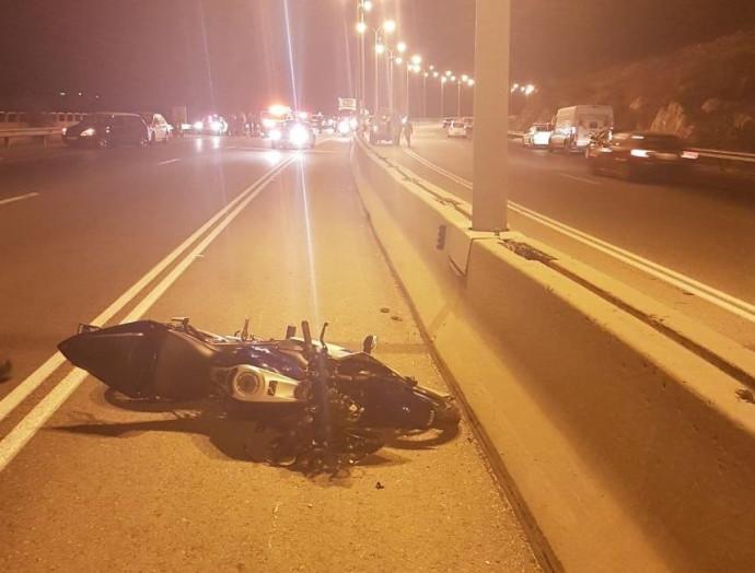 תאונת אופנוע סמוך לאריאל