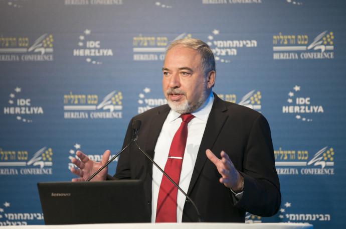 שר הביטחון אביגדור ליברמן בכנס הרצליה