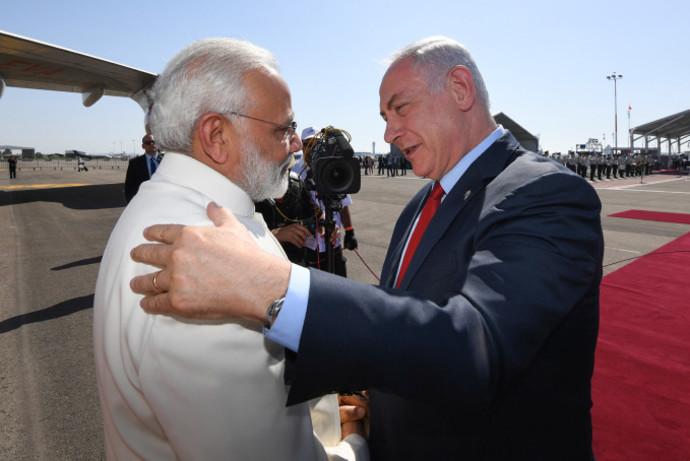 ראש הממשלה נתניהו וראש ממשלת הודו מודי