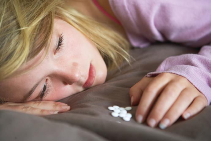 ילדה בדיכאון, צילום אילוסטרציה