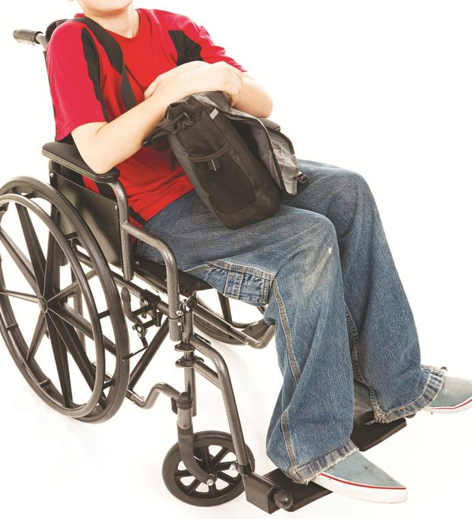 ילד על כיסא גלגלים, אילוסטרציה