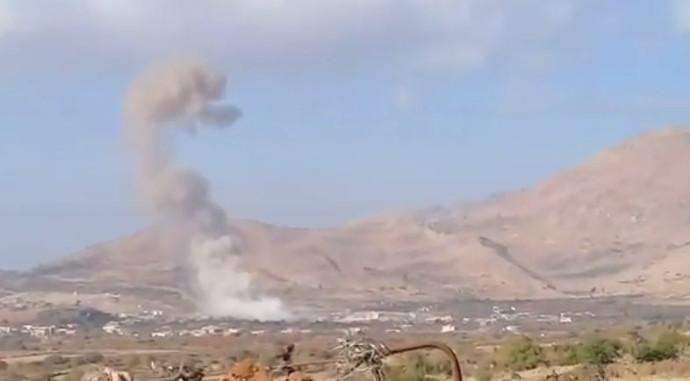 מתוך תיעוד הפיצוץ בסוריה