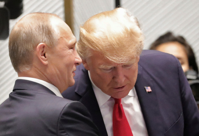 דונלד טראמפ וולדימיר פוטין