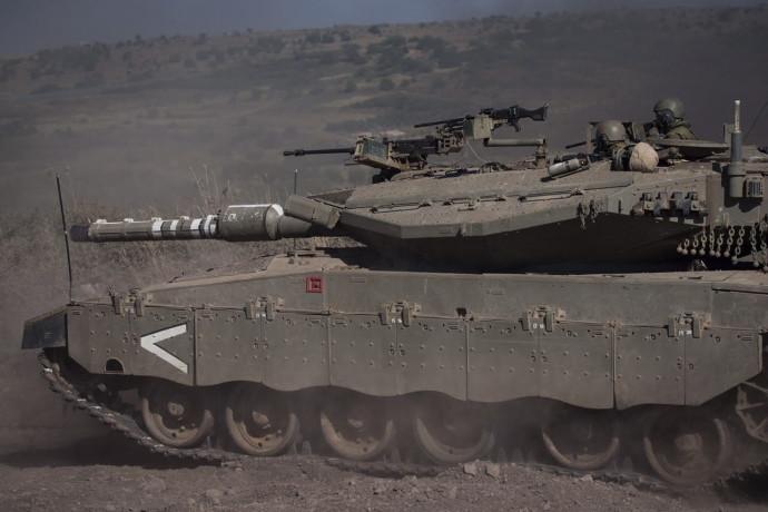 """טנק של צה""""ל ברמת הגולן"""